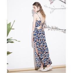 Váy đầm maxi hoạc tiết hoa cỏ cao cấp cực đẹp cho các nàng