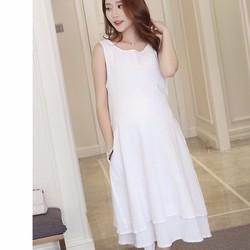ĐẦM BẦU MAXI CAO CẤP  dress088G