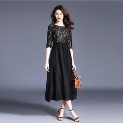 Đầm Maxi Ren Phối Ren Cao Cấp