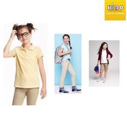 áo thun có cổ bé gái xuất khẩu - áo bé gái 4-12 tuổi - áo có cổ cho bé - áo cho bé gái VNXK
