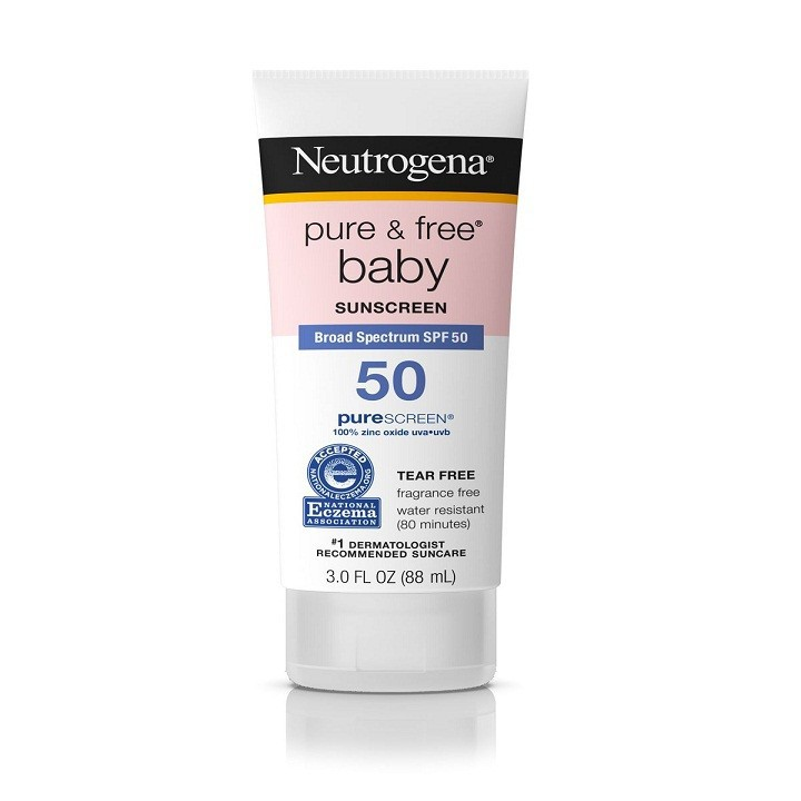 Kem chống nắng Neutrogena Pure Free Baby Sunscreen Lotion SPF50 1