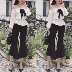 sét áo và quần ống rộng thời trang
