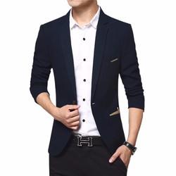 áo khoác vest nam kaki xanh navi