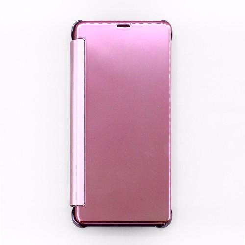 Bao da Samsung Galaxy A8 Plus 2018 Clear View hồng