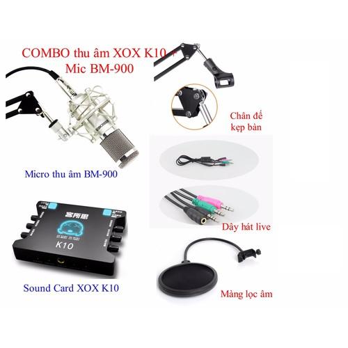 Bộ thu âm Live STream  Mic BM900 + Card xox K10+ Đầy đủ phụ kiện - 5358043 , 8937751 , 15_8937751 , 1390000 , Bo-thu-am-Live-STream-Mic-BM900-Card-xox-K10-Day-du-phu-kien-15_8937751 , sendo.vn , Bộ thu âm Live STream  Mic BM900 + Card xox K10+ Đầy đủ phụ kiện
