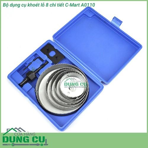 Bộ dụng cụ khoét lỗ 8 chi tiết C-Mart - 4991450 , 8945686 , 15_8945686 , 212000 , Bo-dung-cu-khoet-lo-8-chi-tiet-C-Mart-15_8945686 , sendo.vn , Bộ dụng cụ khoét lỗ 8 chi tiết C-Mart