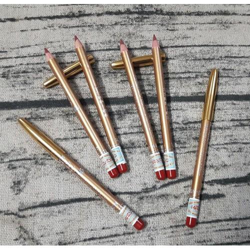 Combo 4 cây Chì kẻ môi mini màu đỏ xinh xinh
