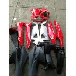 Dàn áo xe Wave  A đỏ tươi, nhựa ABS + TEM