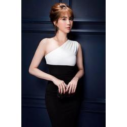 Đầm ôm body Ngọc Trinh thiết kế lệch vai
