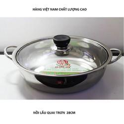 Nồi lẩu inox hàng Việt Nam cao cấp quai trơn size 28cm