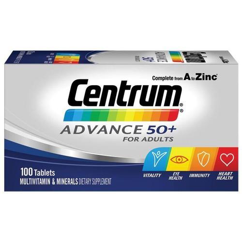 Viên uống bổ sung đầy đủ vitamin Centrum cho người trên 50 tuổi