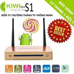Android Tivi KiwiBox S1 4K Ultra HD RAM 1GB