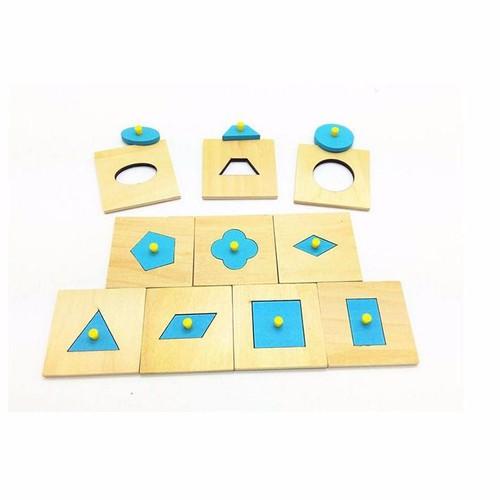 Bộ núm hình khối Montessori