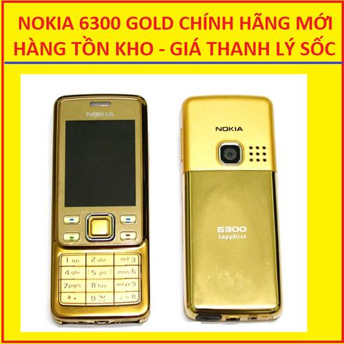 NOKIA 6300 GOLD MỚI, HÀNG TỒN