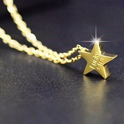 Dây chuyền Titan hình ngôi sao DC89 Màu Vàng cung cấp bởi Winwinshop88