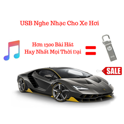 USB Nghe Nhạc Cho Ô TÔ Tổng Hợp 1300 bài chất lượng cao 16G