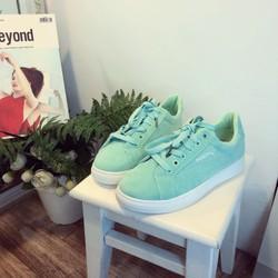 Giày nữ màu xanh mint dễ thương ảnh thật