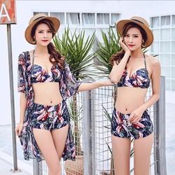 Bikini - Đồ bơi kèm áo choàng mỏng