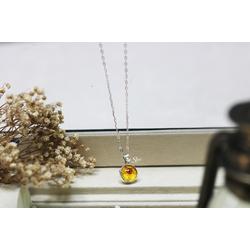 Dây chuyền bán cầu hoa trân châu vàng