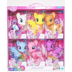 Đồ chơi ngựa Pony 7 màu cho bé gái [ giá 1 con lớn]