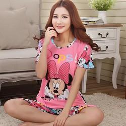 Đồ bộ thun mặc nhà hoạt hình micky hồng