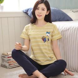NG8125 - Bộ mặc nhà nữ áo ngắn tay và quần dài - giá 220k