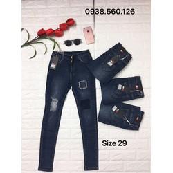 Quần jeans rách size 29