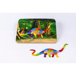 Đồ chơi xếp hình Puzzle khủng long peppi