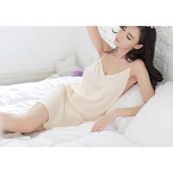 Váy ngủ 2 dây hở lưng sexy MS111