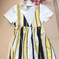 Đầm babydoll sọc cực teen