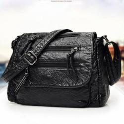 Túi xách da mềm 3 dây kéo
