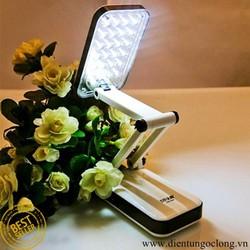 Đèn Học Để Bàn 24 Bóng Led KM-6668C Pin Sạc