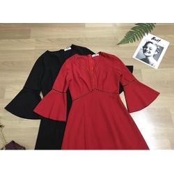 Váy xẻ sang trọng nhẹ nhàng - Màu Đỏ- M