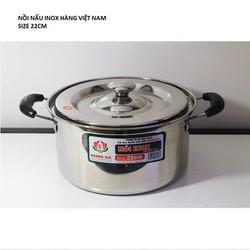 Nồi  inox cao cấp hàng Việt Nam chất lượng cao Hoàng Gia 22cm
