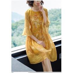 Đầm Suông Viền Ren Tay Loe - Hàng nhập cao cấp