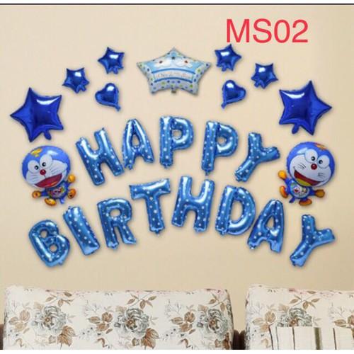 Set bóng sinh nhật Doremon