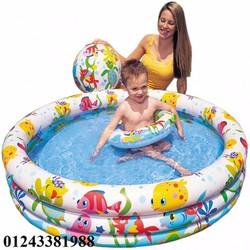 Bể phao bơi tặng kèm bóng và phao - bể phao bơi cho bé