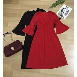 Váy xẻ sang trọng nhẹ nhàng - Màu Đỏ- L