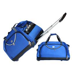 vali túi kéo du lịch Pierre màu xanh PVC