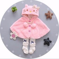 Áo choàng kitty cho bé