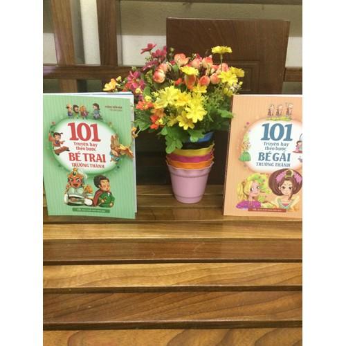 Combo 2 cuốn 101 truyện hay theo bước bé gái và bé trai trưởng thành