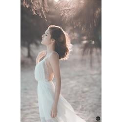 ĐẦM MAXI HỞ LƯNG VIỀN REN SEXY