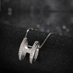 Vòng cổ nữ, mặt dây chuyền chữ H, style Hàn Quốc sang trọng cá tính