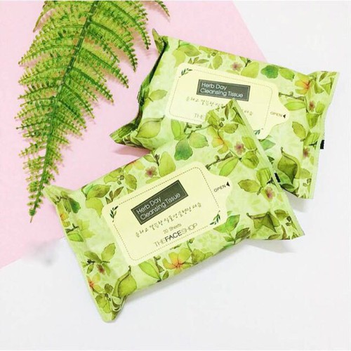 Khăn giấy tẩy trang The Face Shop Herb Day Cleansing Tissue - 5379552 , 8982785 , 15_8982785 , 60000 , Khan-giay-tay-trang-The-Face-Shop-Herb-Day-Cleansing-Tissue-15_8982785 , sendo.vn , Khăn giấy tẩy trang The Face Shop Herb Day Cleansing Tissue