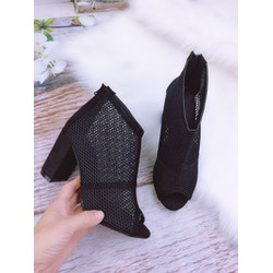 Giày boot nữ cao gót, lưới cao 7cm