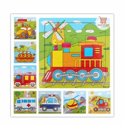 combo 2 tranh ghép gỗ hình phương tiện giao thông