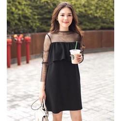 Đầm Suông Tay Ren Thời Trang
