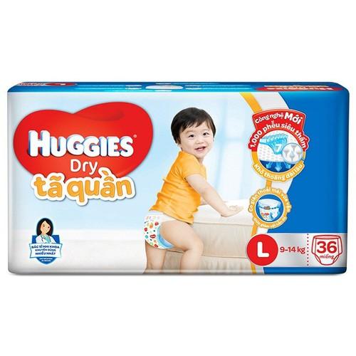 Tã bỉm quần Huggies Dry L36 miếng 9-14 kg