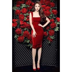 Đầm body đỏ thiết kế tinh tế