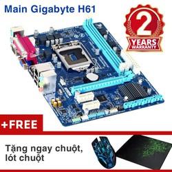 Bảng mạch chính Gigabyte H61M-DS2  BH 24 tháng KM chuột Wifi